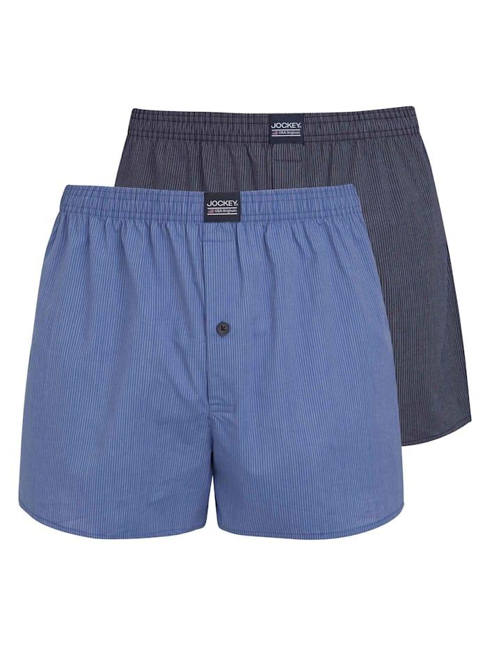 Jockey Boxershorts, Doppelpack, star blue