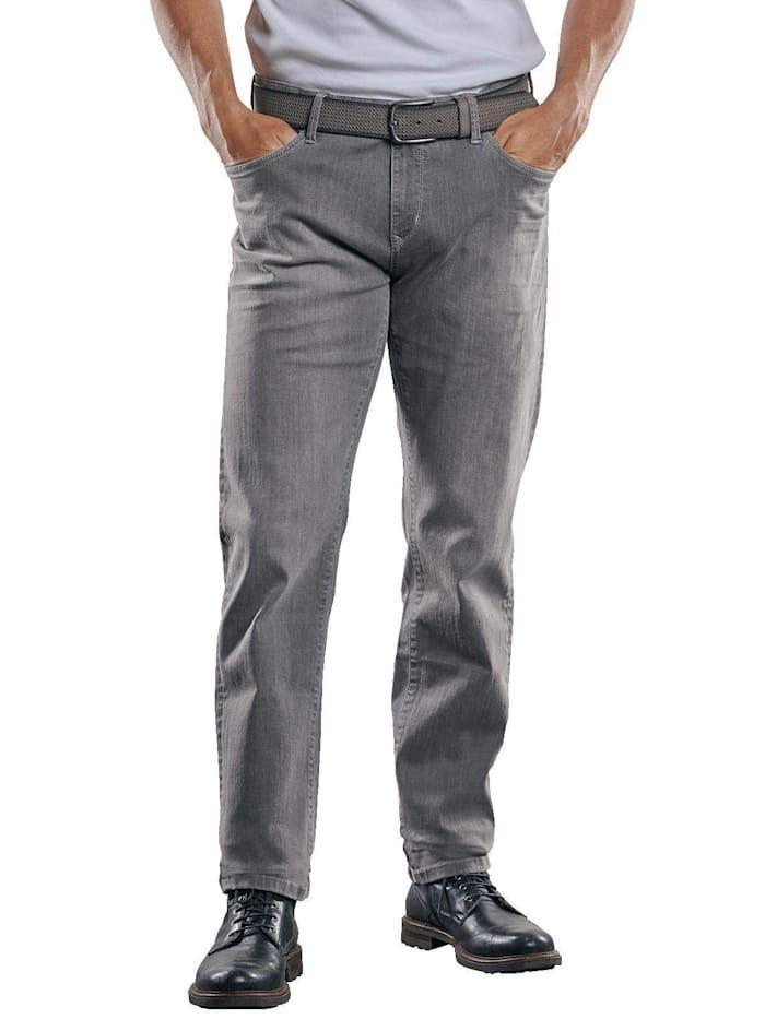 Engbers Jeans mit coolen Knittereffekten, Stahlgrau