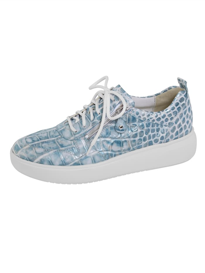 Waldläufer Sneakers avec glissière, Bleu ciel