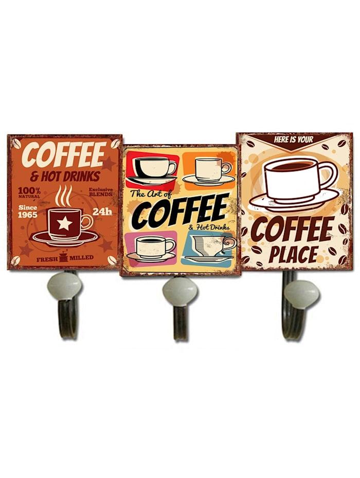 HTI-Line Garderobenhaken Coffee, Bunt
