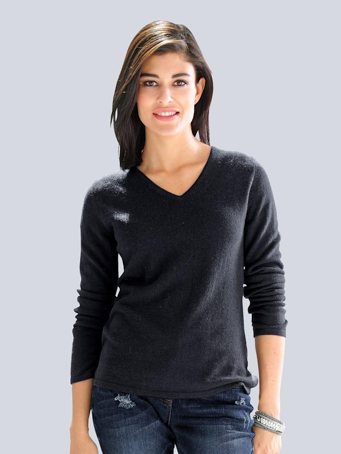 Alba Moda Pullover aus kuschelweichem Kaschmir, Marineblau