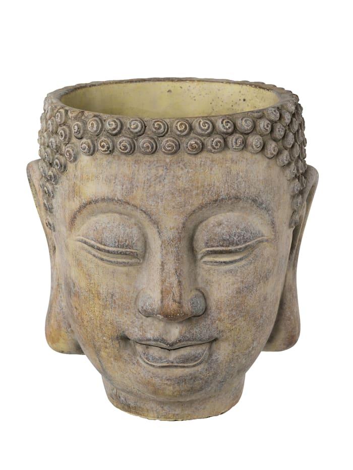 Globen Lighting Buddhakopf Pflanzgefäß, Grau
