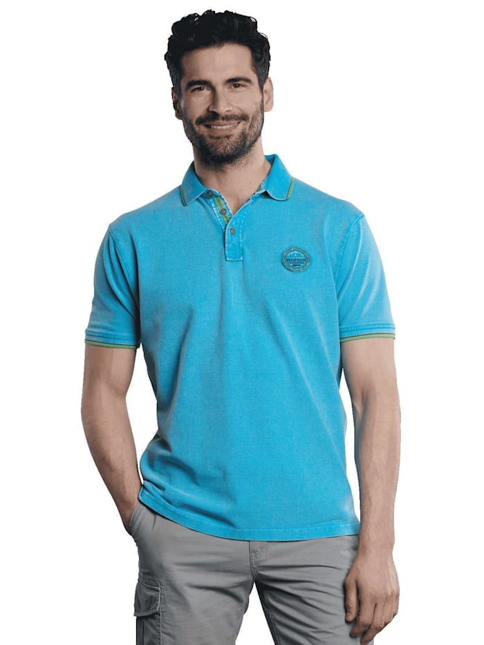Engbers Poloshirt sportiv, Blautürkis