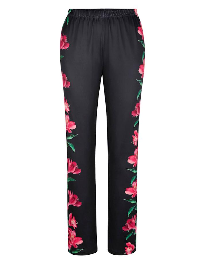 Hose mit streckendem Blumenprint