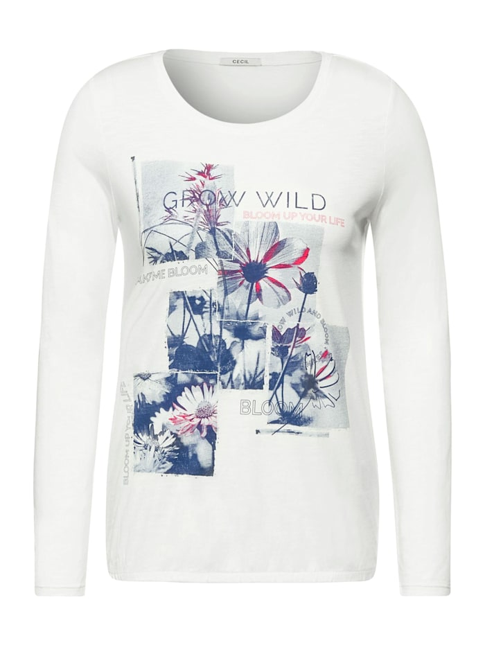 Cecil Shirt mit Foto-Print, pure off white