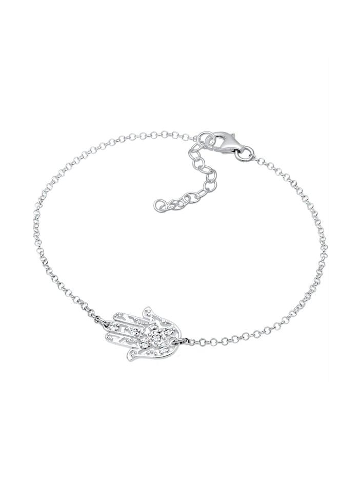 Armband Hamsa Hand Der Fatima Kristalle 925 Silber