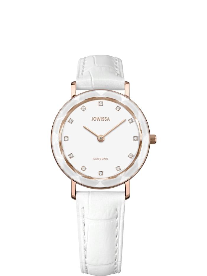 Jowissa Quarzuhr Aura Swiss Ladies Watch, weiß/rosé