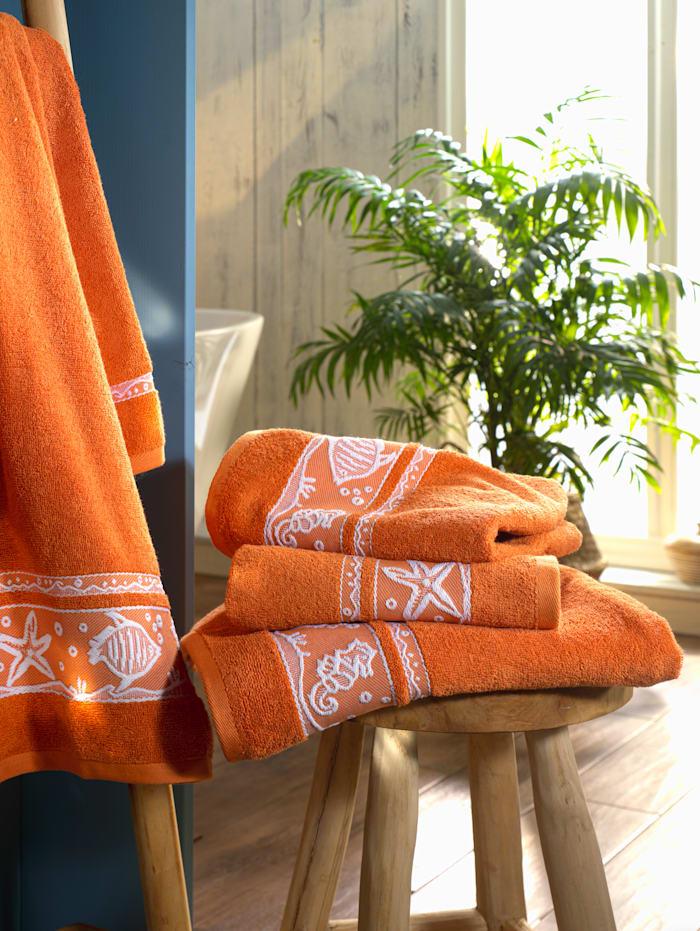 Webschatz Handdoeken Schelp, Terracotta