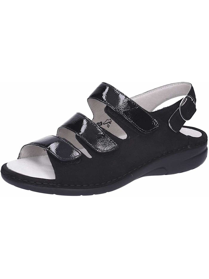 Waldläufer Sandale, schwarz
