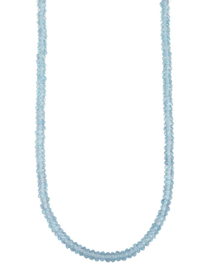 Diemer Farbstein Blautopas-Kette mit Blautopas, Blau