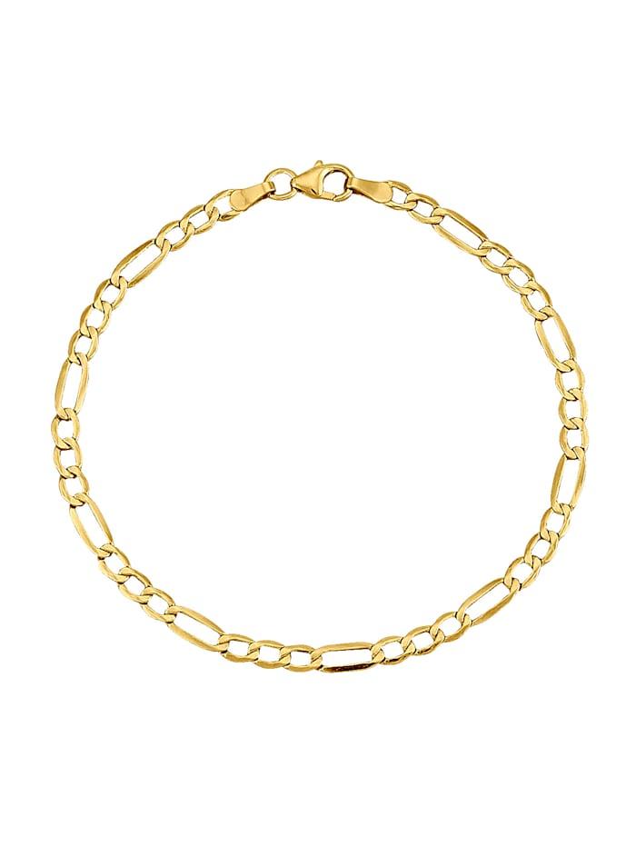 Figaroarmband gediamanteerd, Geelgoudkleur