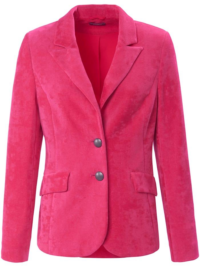 Basler Gefütterter Nicki-Blazer mit Pattentaschen, pink dahlia