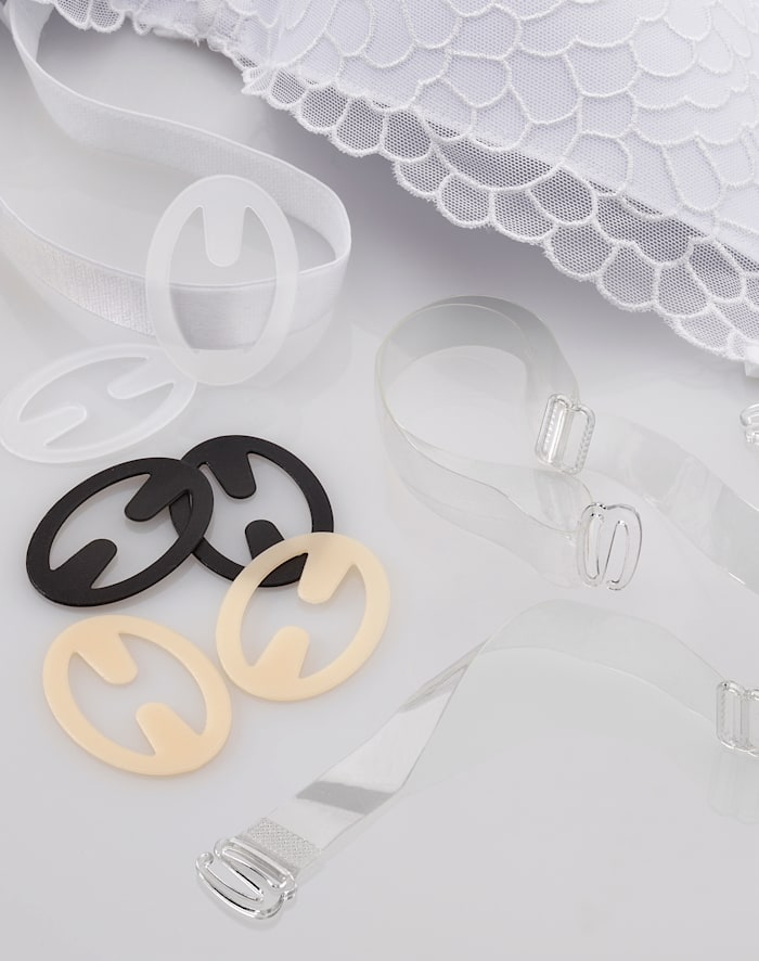 Miss Perfect Bh-bandclips voor elke bh, Transparant/Nude/Zwart
