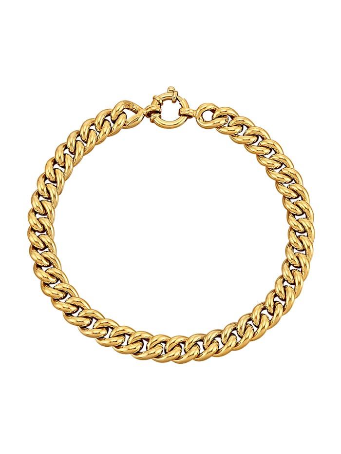 Diemer Gold Armband av pansarlänk, Guldfärgad