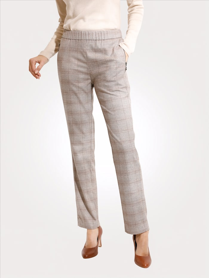 Relaxed by Toni Pantalon, Beige/Camel