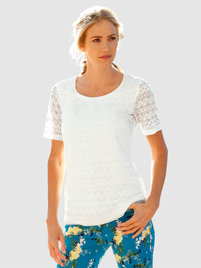 Dress In Lace Top Light and summery, White
