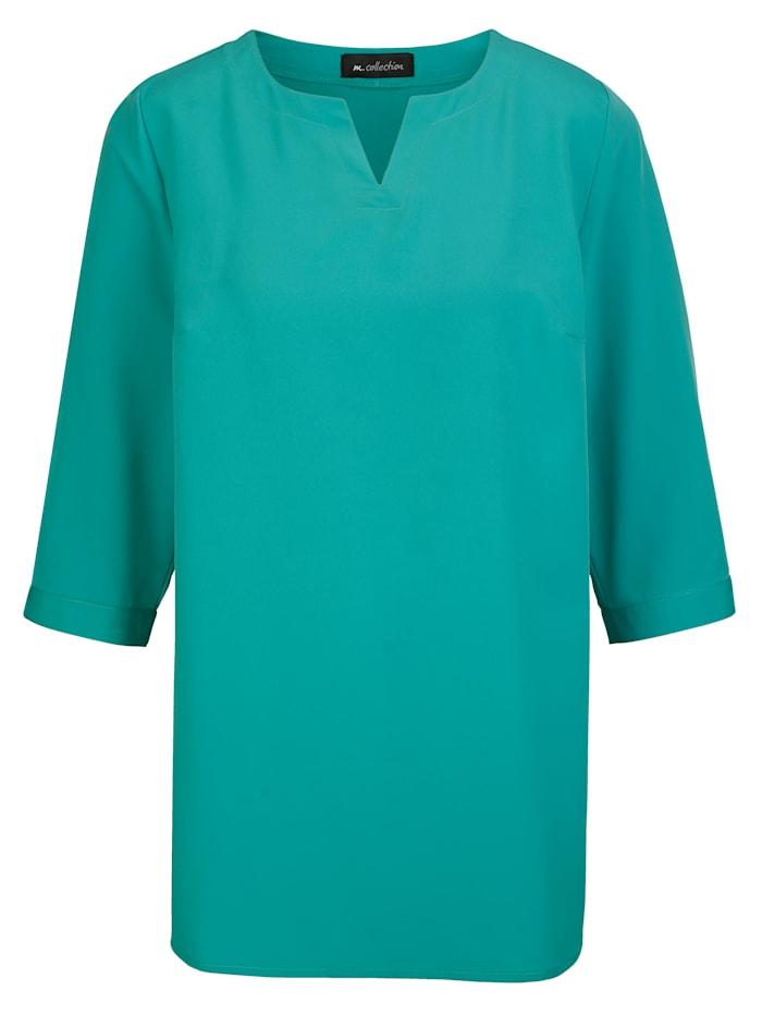 Bluse einfarbig oder mit hübschem Tupfen-Druckmuster