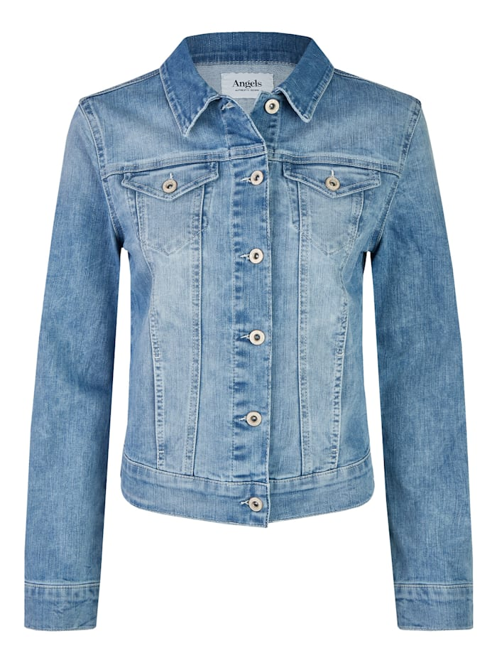 Angels Jeansjacke mit Knopfleiste, light blue used