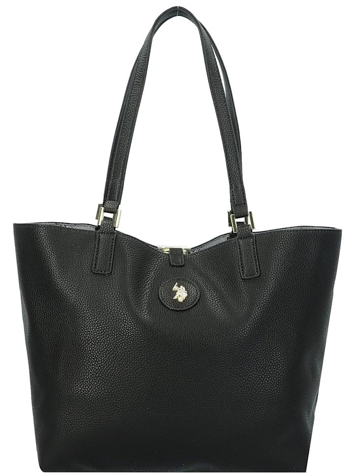 U.S. Polo Assn. Malibu Shopper Tasche mit Wendefunktion 28,5 cm, black