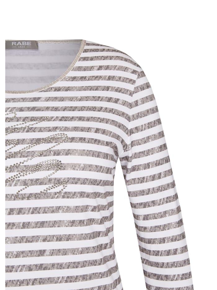 Shirt mit Ringelmuster und Dekosteinen
