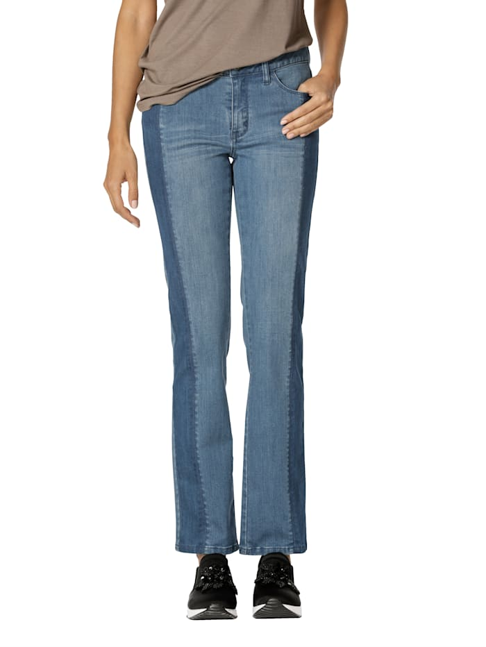AMY VERMONT Jean de coupe 5 poches, Blue stone