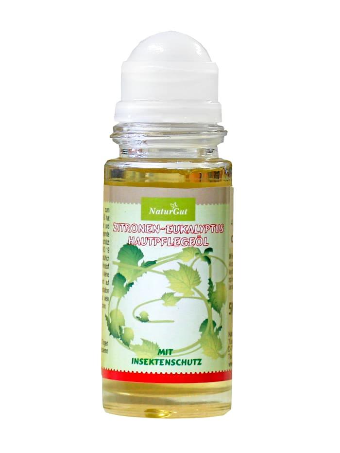 Zitronen-Eukalyptus Hautpflegeöl mit Insektenschutz Mit den besonders wertvollen BIO-Hautpflegeölen Arganöl und BIO-Nachtkerzenöl
