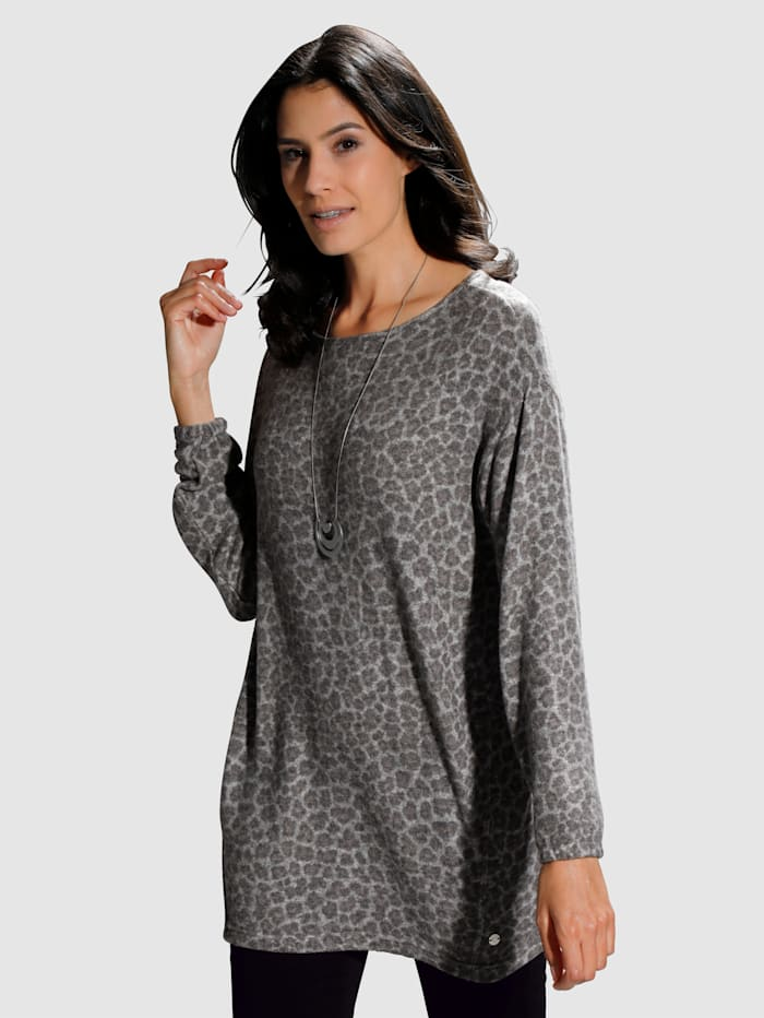Laura Kent Pull-over à motif animalier, Taupe