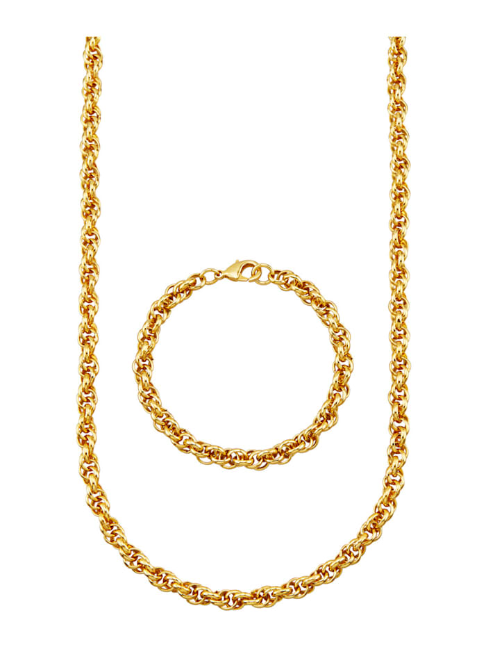 Golden Style Halsband & armband, Guldfärgad