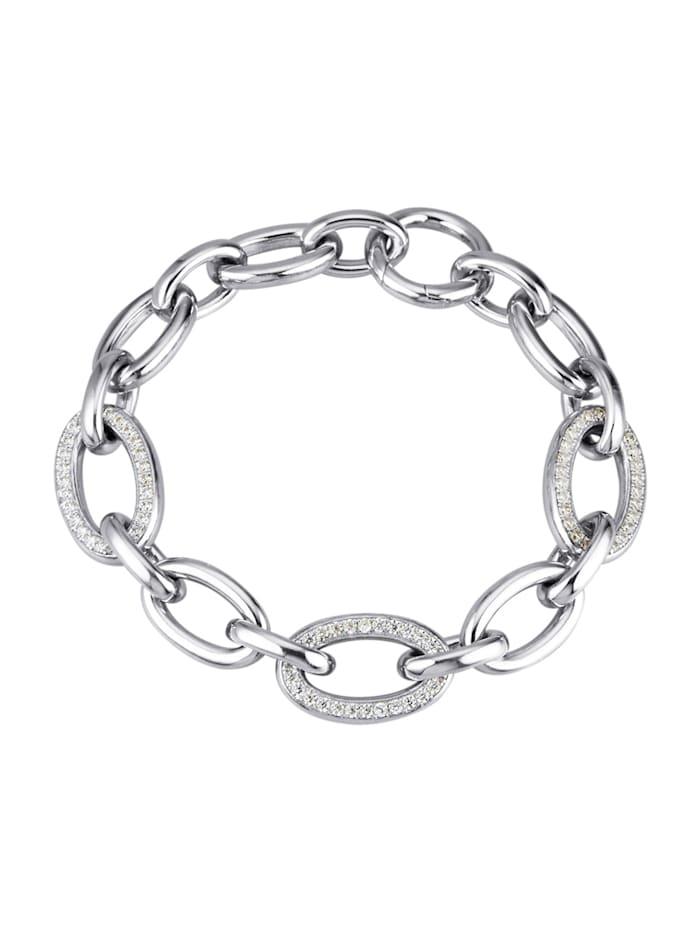 Diemer Trend Armband met zirkonia's, Zilverkleur