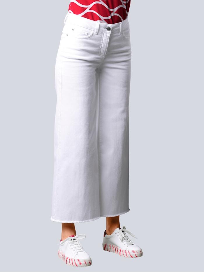 Alba Moda Jeans mit weiterem Beinverlauf, Off-white