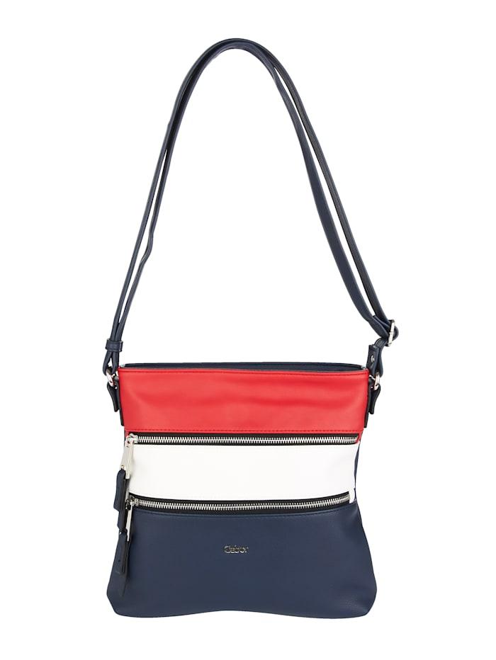 Gabor Umhängetasche im klassischen Look, Rot/Weiß/Marineblau