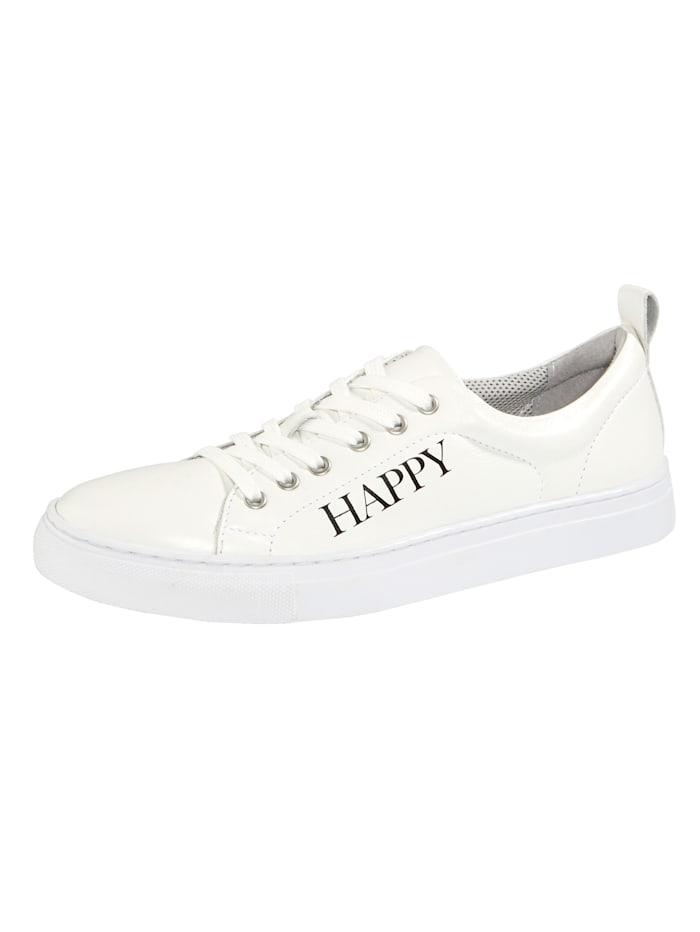 Filipe Shoes Plateausneaker mit modischem HAPPY-Schriftzug, Weiß