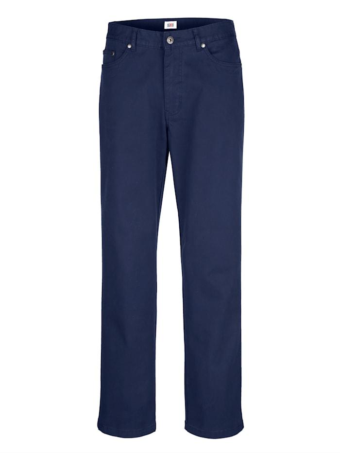 Roger Kent 5-Pocket Hose mit Reißverschluss-Gesäßtasche, Marineblau