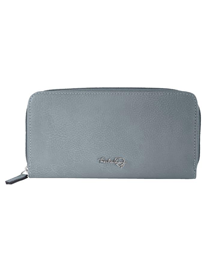 Taschenherz Portemonnee met praktische vakindeling, jeansblauw