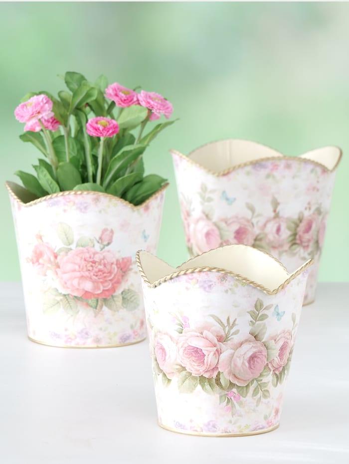 3-dílný set květináčů, multicolor