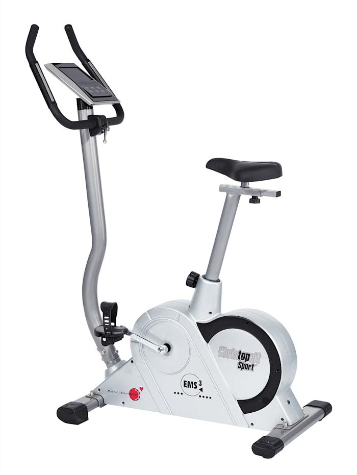 Christopeit Motionscykel – Ergometer EMS 3, Silverfärgad