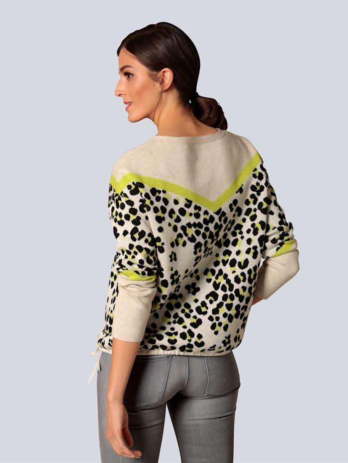 Pullover im farbharmonischem Muster
