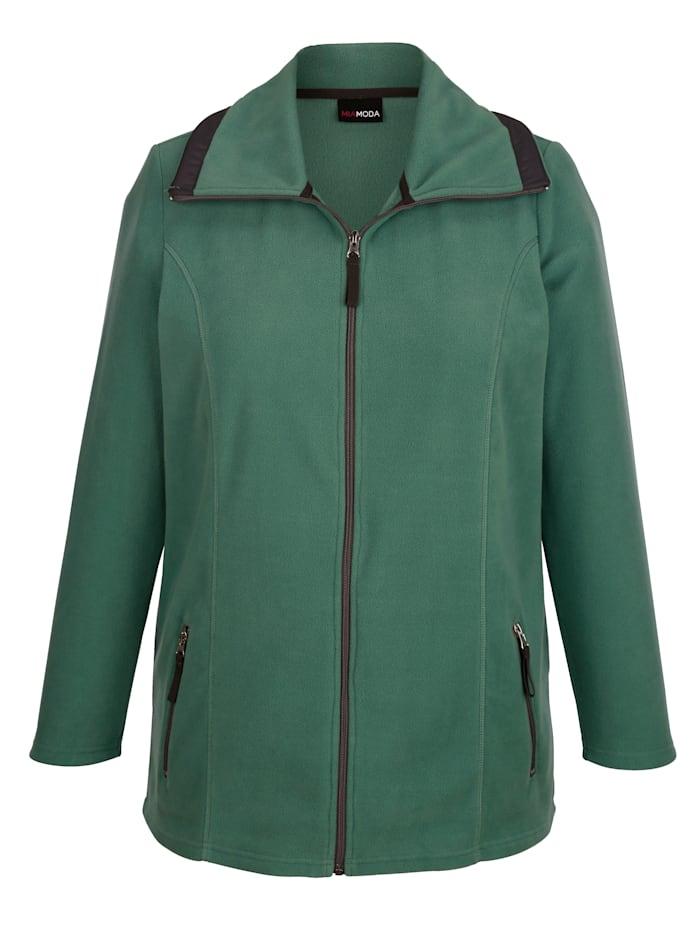 Fleecová bunda s ležatým límcem