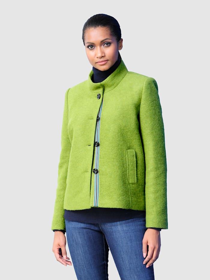 Alba Moda Wolljacke in trendiger Farbgebung, Grün
