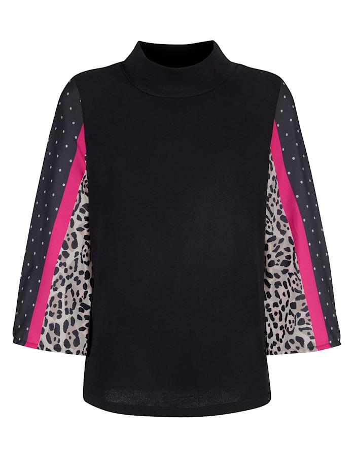 Pullover mit Ärmeln aus Chiffon