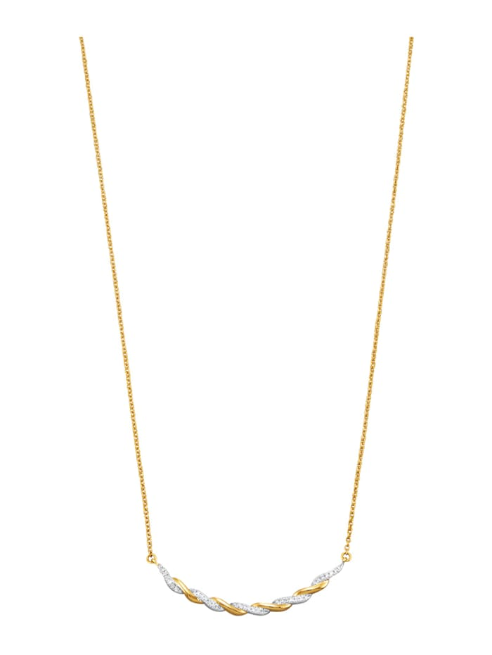Collier avec diamants, Coloris or jaune
