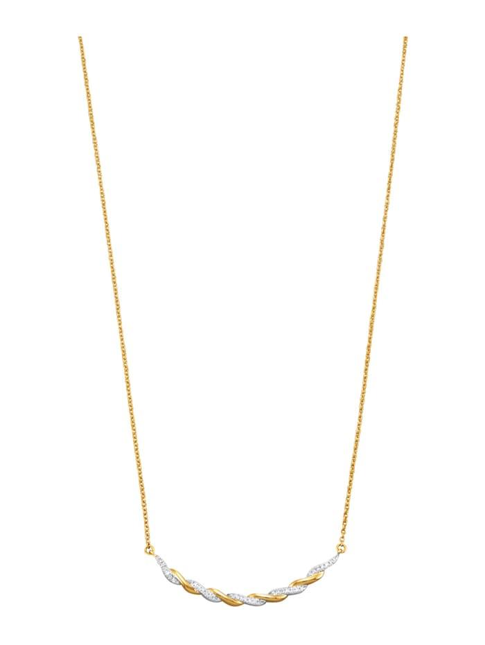 Halsband med diamanter, Guldfärgad