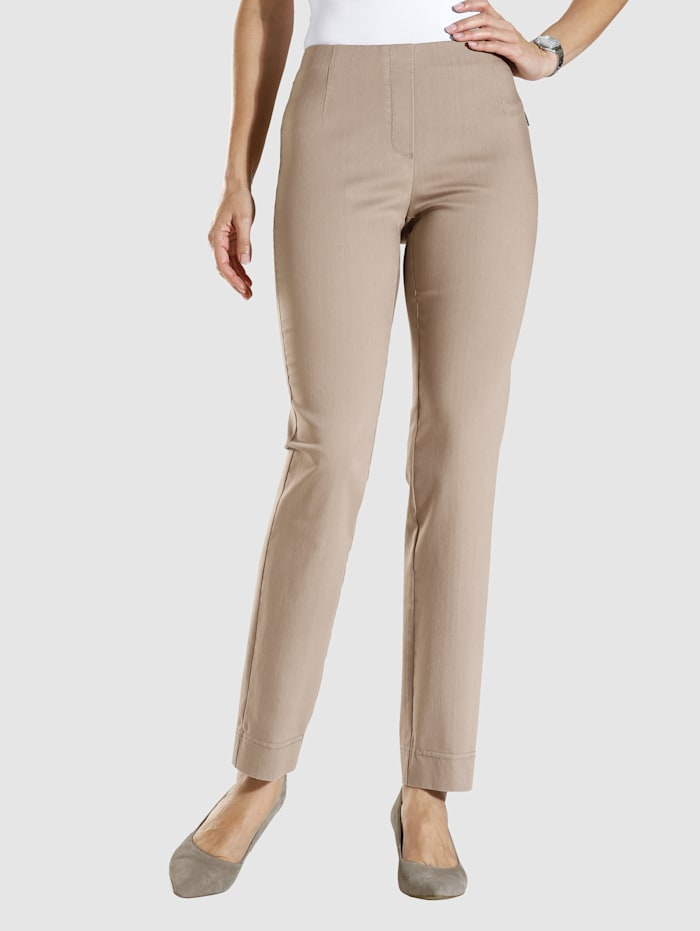 MONA Pull-on trousers made from a comfortable fabric, Beige