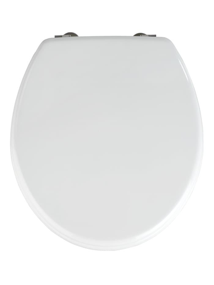 Wenko WC-Sitz Prima Weiß, Weiß, Befestigung: Silber matt