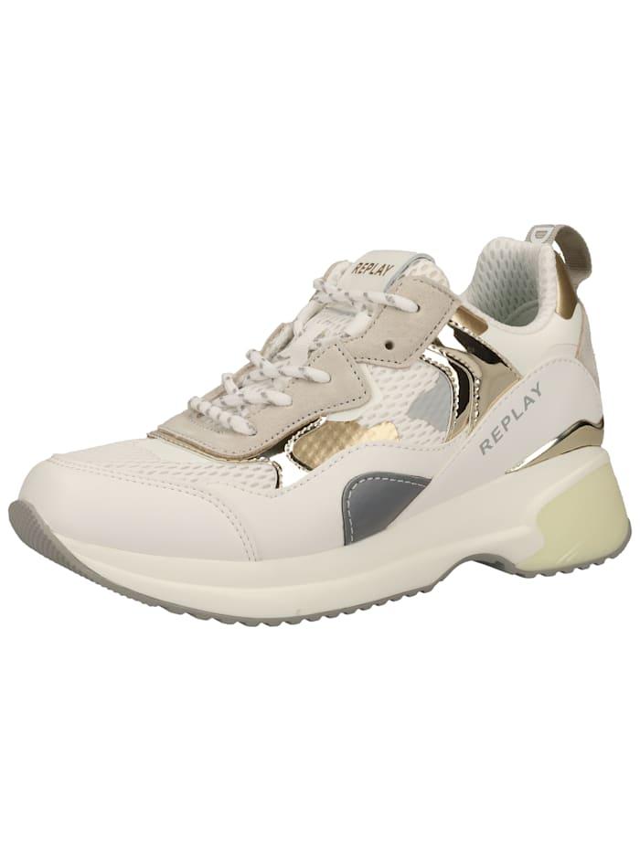 REPLAY REPLAY Sneaker, Weiß/Grau