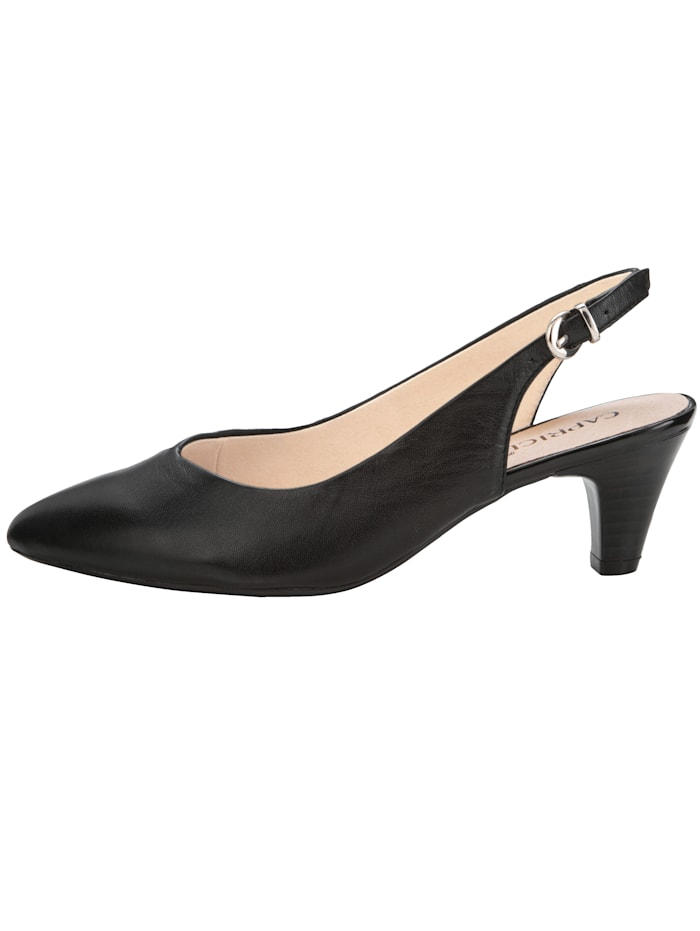 Sling obuv v elegantnom, špicatom tvare