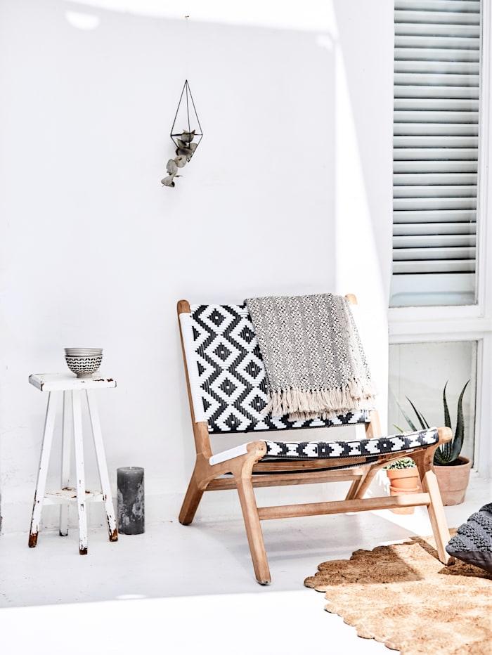 Outdoor-Stuhl, Natur/Weiß