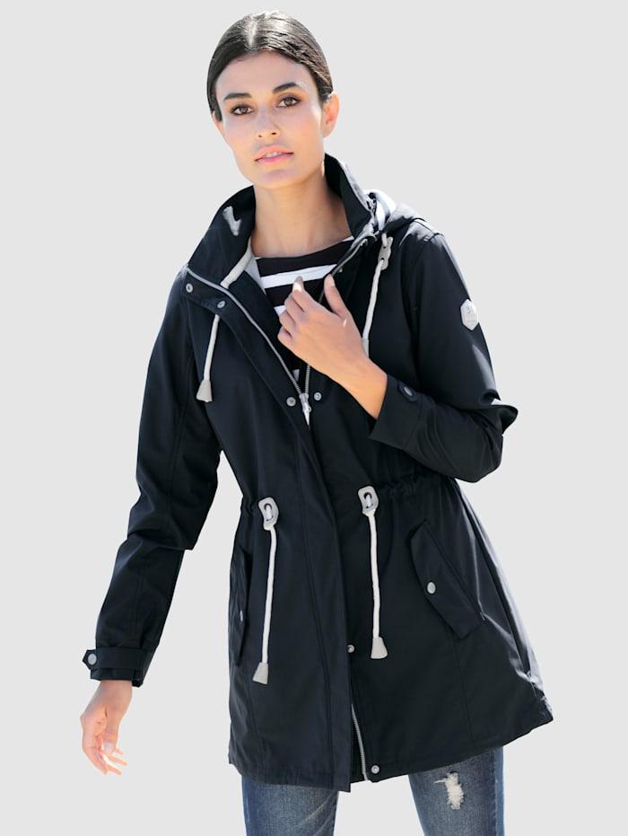 Alba Moda Jacke in Softshell-Qualität, Marineblau/Weiß