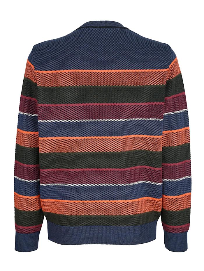 Pullover mit Streifenmusterung