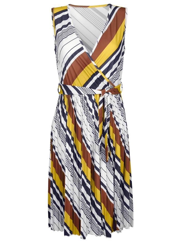 Jerseykleid mit plissiertem Rockteil